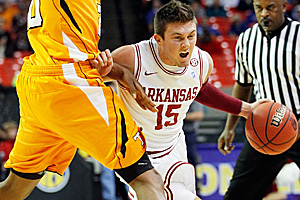 Oklahoma native Rotnei Clarke averaged 15.2 ppg for the Razorbacks in 2010-11. (Getty Images)
