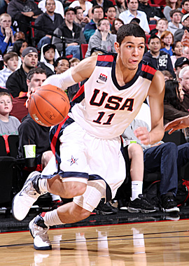 The 2011 Naismith Prep Player of the Year and son of Celtics coach Doc Rivers, Austin Rivers will play for Coach K at Duke. (Getty Images)