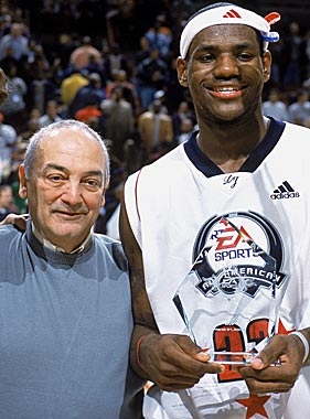 Sonny Vaccaro helped LeBron James make his bones with summer basketball. (Getty Images)