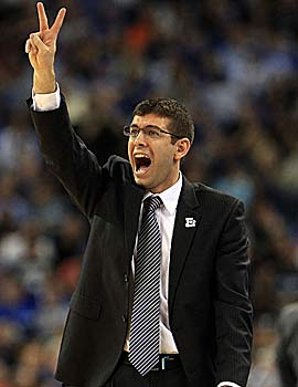Brad Stevens' Bulldogs make the title game not once but twice. (Getty Images)
