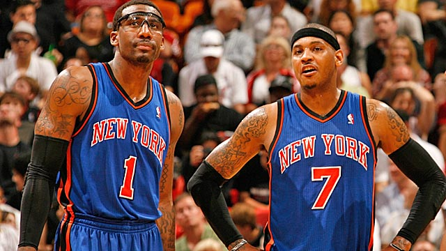 Amar'e and Carmelo first played together at Madison Square Garden as high schoolers. (Getty Images)