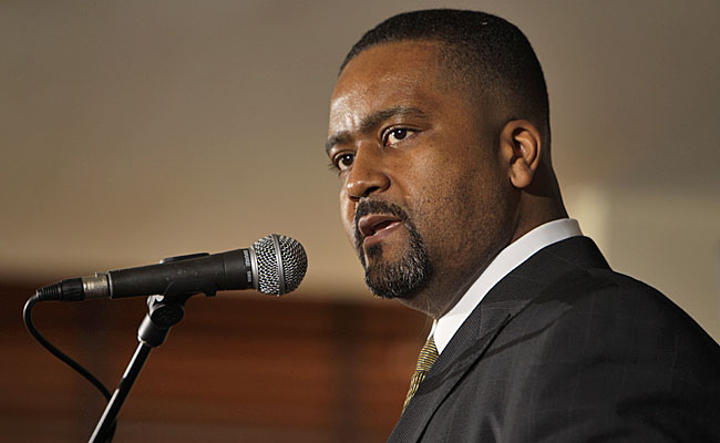Frank Haith's job is more difficult with rivals able to use his status against him in recruiting. (AP)
