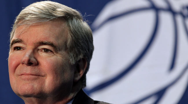 Mark Emmert sends a message that he will get tough on rule-breakers. (Getty Images)