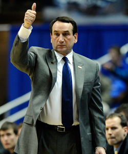Over the course of his coaching career, Mike Krzyzewski has amassed four national titles and a gold medal. (Getty Images)