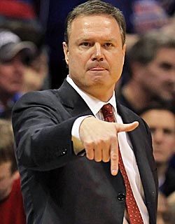 The Jayhawks and Bill Self plus the Longhorns will keep the Big 12 relevant in hoops. (Getty Images)