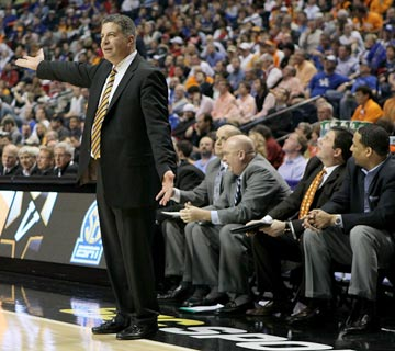Bruce Pearl did the crime. Ex-assistants Tony Jones, Jason Shay and Steve Forbes (right to left) are paying the biggest price. (Getty Images)