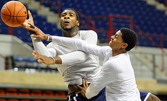 Veterans like Jeremy Lamb (right) will help Andre Drummond improve his game for the Huskies. (AP)