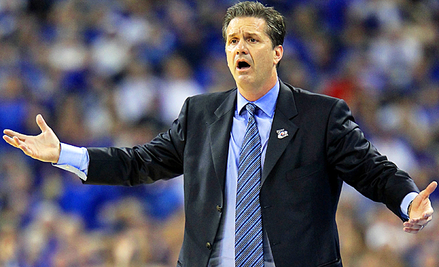 John Calipari has only been coaching Kentucky for two years, but the fans are already restless. (Getty Images)