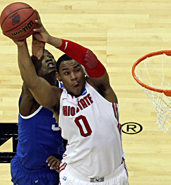 Ohio State's Jared Sullinger averaged 17.2 ppg and 10.2 rpg as a freshman. (Getty Images)