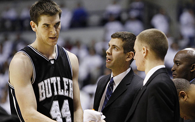 Butler's Brad Stevens does not enter the season empty-handed, with Andrew Smith back in the middle. (AP)