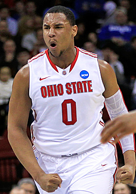 Ohio State sophomore Jared Sullinger passes on the NBA Draft, and is unanimously picked for the AP All-American team. (Getty Images)