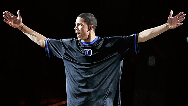 Austin Rivers figures to make this much impact on Duke's storied program. (US Presswire)