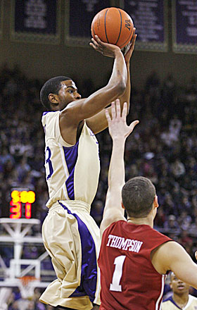 Washington's C.J. Wilcox set a Huskies recored for 3s by a freshman. (AP)
