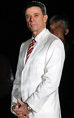 Rick Pitino resplendent in white is always a season highlight. (Getty Images)