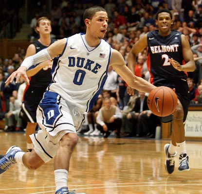 Duke's heralded freshman Austin Rivers scores 16 points in his college debut.  (US Presswire)