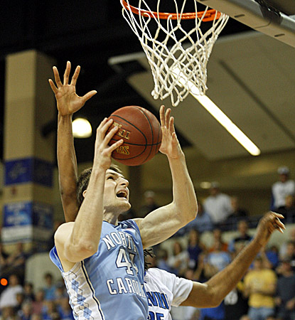 Tyler Zeller leads all scorers with 27 in an easy victory for the No. 1 Tar Heels. (AP)