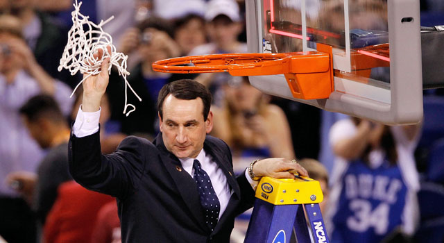 Coach K's unparalleled success at Duke makes Tom Butters look like a genius. (Getty Images)