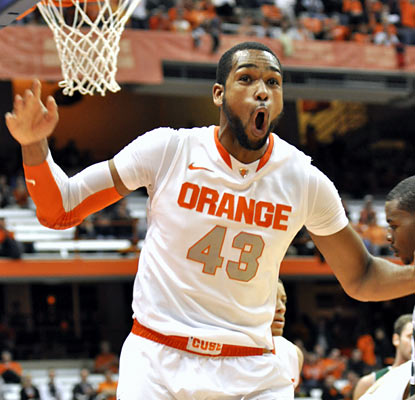 James Southerland shoots 8 for 12 from the field for 19 points in the win over Albany. (AP)