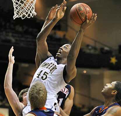Rod Odom, who puts up 10 points off the bench, is one of five Commodores to reach double digits in scoring. (AP)