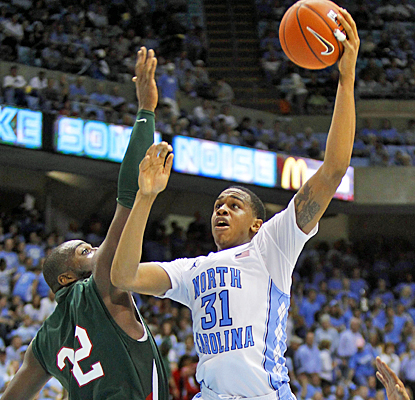 John Henson powers the Tar Heels over Miss. Valley State with 18 points and 14 rebounds. (US Presswire)
