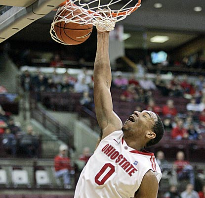 Ohio State's Jared Sullinger scores 27 and adds 13 boards in the Buckeyes' win over North Florida. (AP)