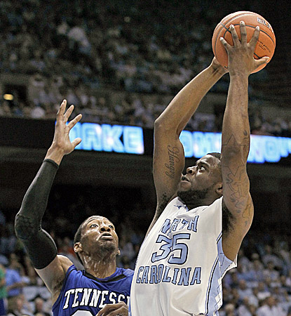 North Carolina's Reggie Bullock scores a career-high 23 points in the Tar Heels' victory over the Tigers.  (AP)
