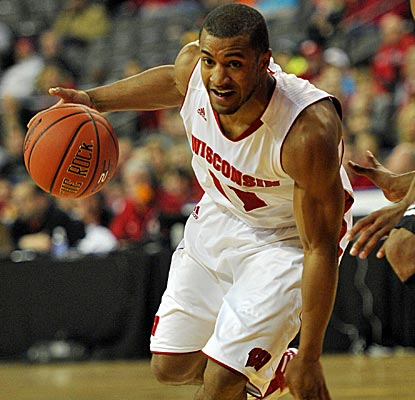 Wisconsin Guard Jordan Taylor is one of three Badgers to score 15 points against Bradley. (US Presswire)