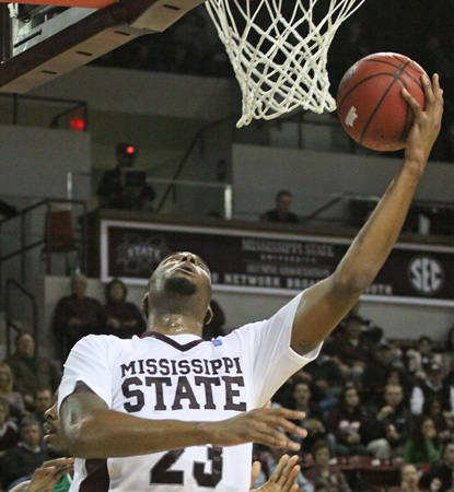 Arnett Moultrie leads the Bulldogs with 20 points to help No. 24 Miss. State cruise over North Texas. (AP)