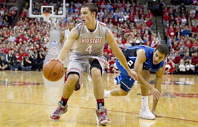 Heady point guard Aaron Craft keeps Ohio State a step ahead of Seth Curry and Duke. (US Presswire)