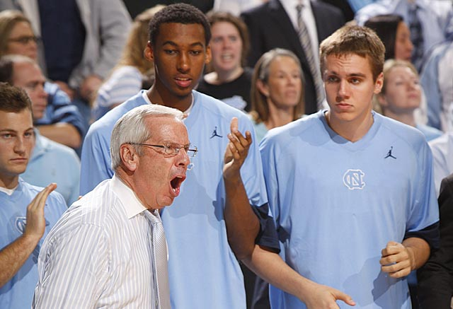 Roy Williams might be concerned after what he has seen from his Tar Heels the past two games. (US Presswire)