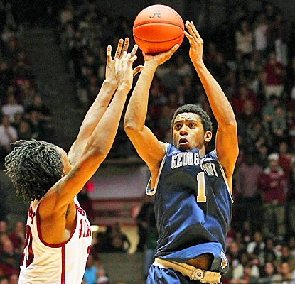 Hollis Thompson picks up 12 points and eight rebounds to help the Hoyas against Alabama. (US Presswire)