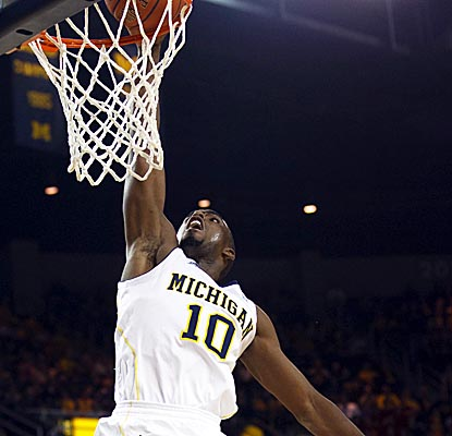 Tim Hardaway Jr. racks up a game-high 19 points and six rebounds in the Wolverines' winning effort. (US Presswire)