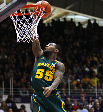 Pierre Jackson scores two of his 16 points to lead Baylor. Fourteen of his total come in the first half in a rout. (AP)