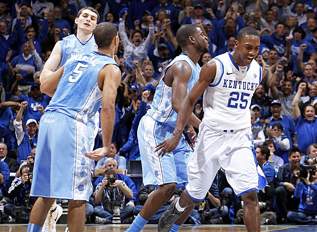 UNC battled back vs. Kentucky at Rupp Arena, among the most hostile settings in college hoops. (Getty Images)
