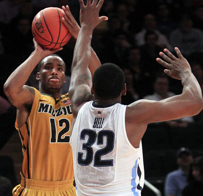 Marcus Denmon lines up a shot as he torches Villanova to the tune of 28 points on 10-of-16 shooting.  (AP)