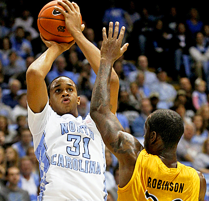 John Henson powers No. 4 North Carolina over Long Beach State with 24 points and 10 rebounds. (US Presswire)