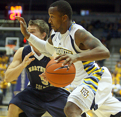 Todd Mayo shines for the Golden Eagles, scoring 22 points against Northern Colorado. (US Presswire)