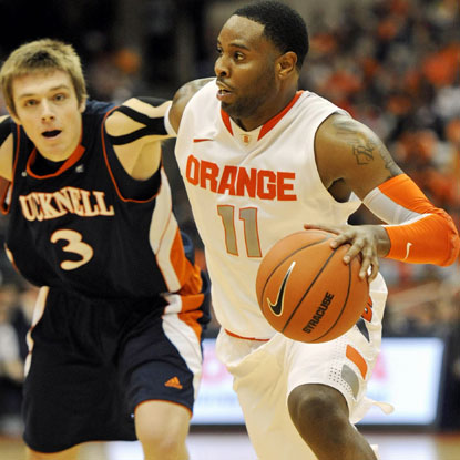 Scoop Jardine scores 14 points and Syracuse avenges a 2005 loss in the Carrier Dome to Bucknell.  (US Presswire)