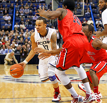 Shabazz Napier rips up Fairfield's defense for 24 points, six rebounds and five assists.  (US Presswire)