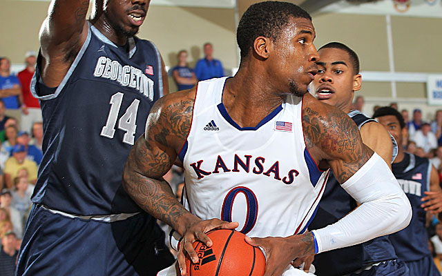 Thomas Robinson is looking for assistance, and the Jayhawks are a little down in that department. (AP)