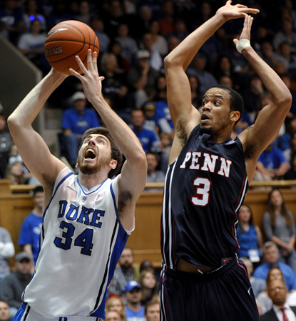 Ryan Kelly scores 18 points and adds 12 boards in a dominant performance against Penn. (AP)