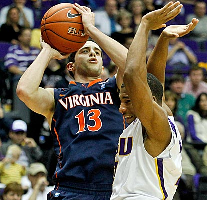 Sammy Zeglinski is clutch late, hitting a big 3 to help No. 21 Virgina hold off LSU. (US Presswire)