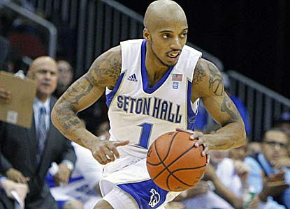 Jordan Theodore scores all of his points (19) in the second half as Seton Hall ends an 11-game skid to UConn. (US Presswire)