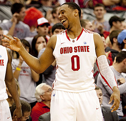 Jared Sullinger posts another strong game with 19 points and 12 rebounds in the Buckeyes' laugher over Nebraska. (US Presswire)