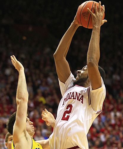 Christian Watford continues to be a force for IU, scoring a game-high 25 points against Michigan. (AP)