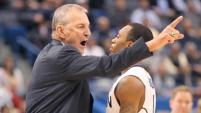 After some rough patches, Jim Calhoun, Shabazz Napier and UConn seem to be on the right path. (Getty Images)