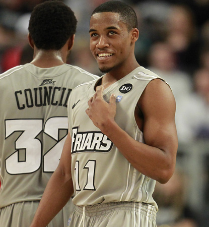 Bryce Cotton scores 27 points to lead Providence to its first Big East victory of the season.  (AP)
