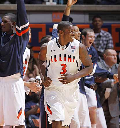 Brandon Paul can't help but smile during the game of his life, in which he scores 43 points on 11-of-15 shooting.  (AP)
