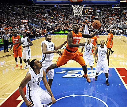 Dion Waiters puts on a show in his home city, scoring 20 points in 22 minutes off the bench for the Orange. (US Presswire)