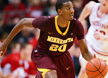 Austin Hollins guides unranked Minnesota to a big road win over No. 7 Indiana with 18 points. (US Presswire)